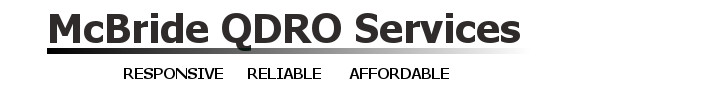 McBride QDRO Services